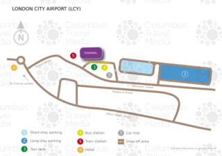 Mapa do terminal e aeroporto Londres City (LCY)